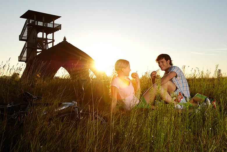 Paare in der Natur am Neusiedler See