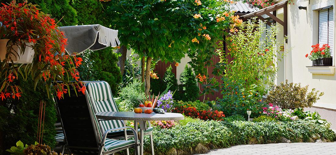 Blumengarten im Gästehaus Blumenhof Wegleitner